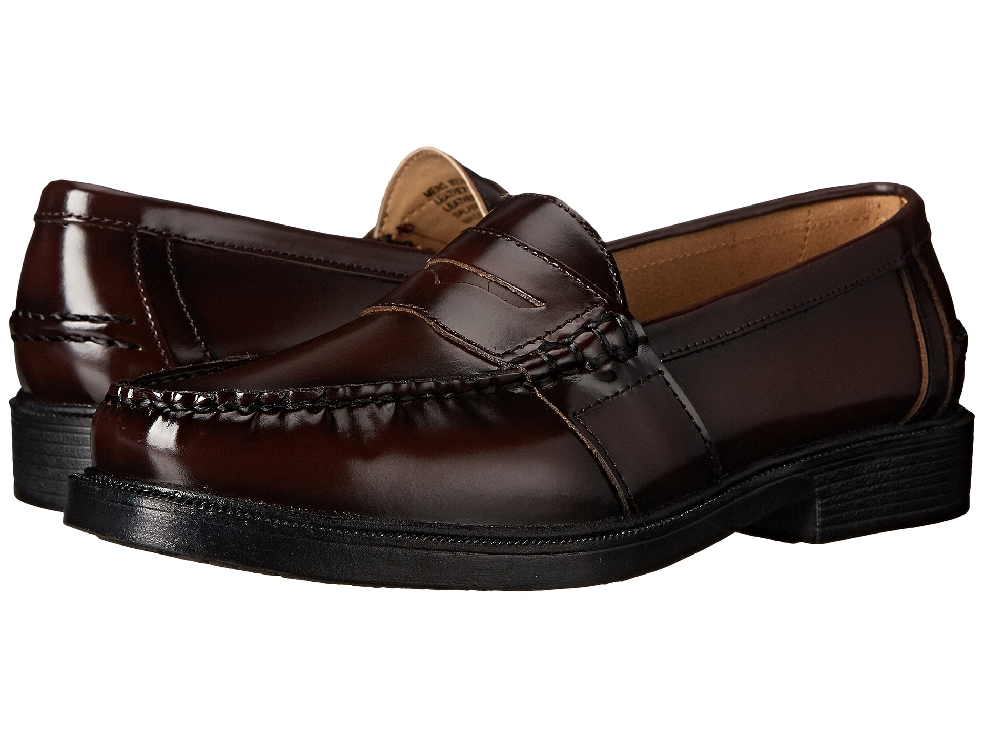 Nunn Bush Men S Lincoln Penny Loafer Leather Burgundy